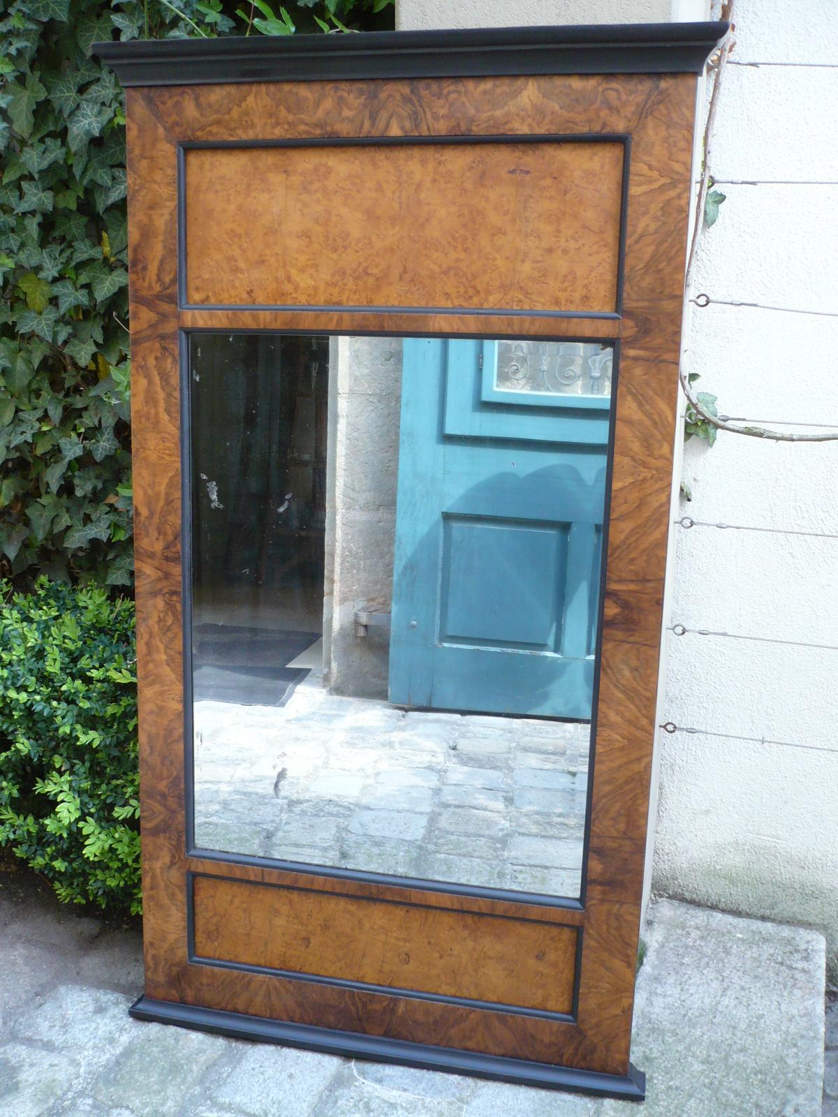 Biedermeier Spiegel biedermeier spiegel nussbaum - kunsthandel schlötzer