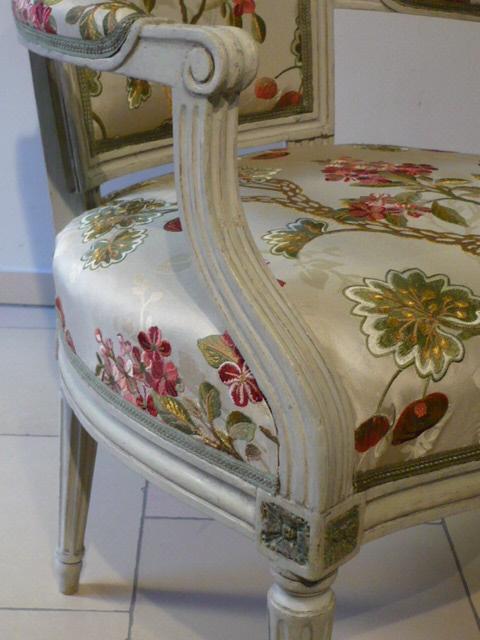 louis seize armlehnstuhl paris kunsthandel schl tzer. Black Bedroom Furniture Sets. Home Design Ideas