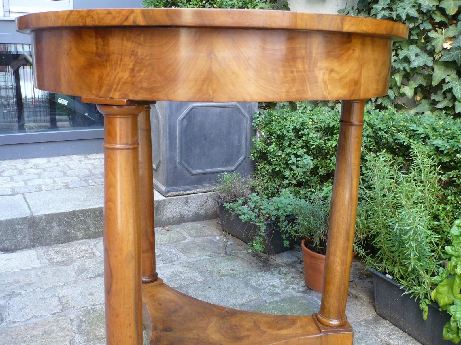 Biedermeier tisch nussbaum kunsthandel schl tzer for Nussbaum tisch